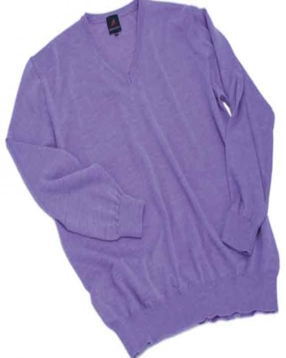 maglia scollo V lana merinos